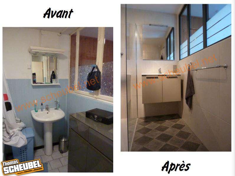 R novation d 39 une salle de bain avec douche italienne thomas scheubel - Cout d une salle de bain ...