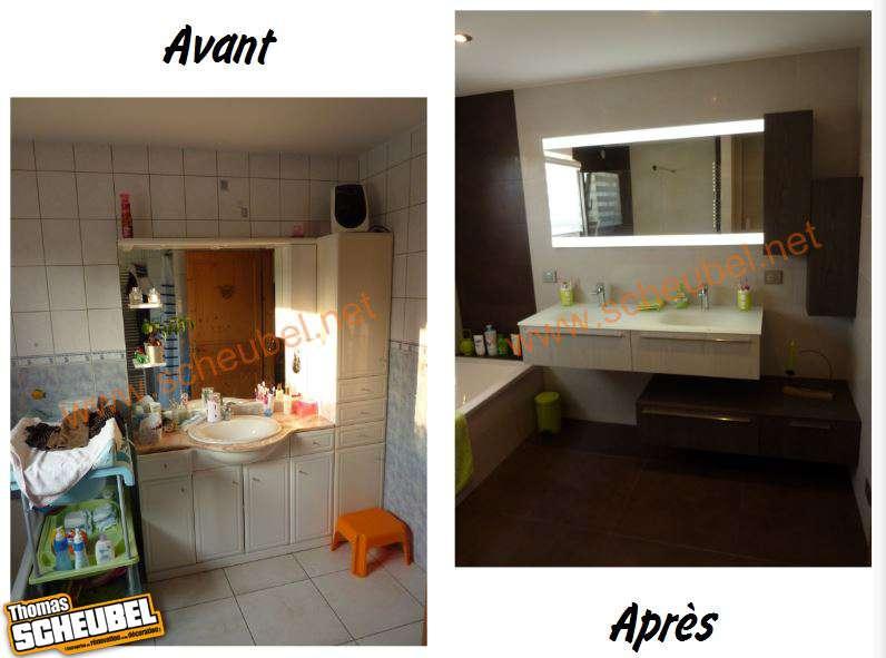 r novation salle de bain avec douche et baignoire thomas. Black Bedroom Furniture Sets. Home Design Ideas