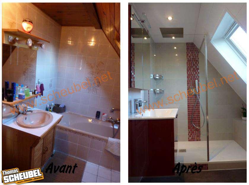 remplacement d 39 une baignoire par une douche thomas scheubel. Black Bedroom Furniture Sets. Home Design Ideas